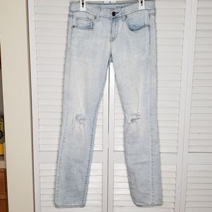 American Eagle Light Wash Skinny Jeans, Size 8R